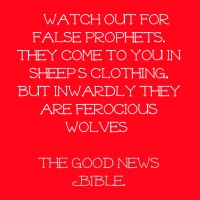 watch out for false prophets